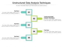 Unstructured Data Analysis Techniques Ppt Powerpoint Presentation Inspiration Cpb