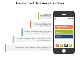 Unstructured Data Analytics Use Cases Ppt Powerpoint Model Microsoft Cpb