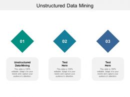 Unstructured Data Mining Ppt Powerpoint Presentation Portfolio Influencers Cpb