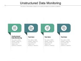 Unstructured Data Monitoring Ppt Presentation Infographics Background Images Cpb