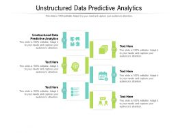 Unstructured Data Predictive Analytics Ppt Powerpoint Presentation Model Display Cpb