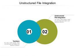 Unstructured File Integration Ppt Powerpoint Presentation Inspiration Ideas Cpb