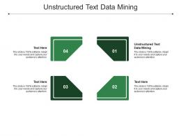 Unstructured Text Data Mining Ppt Powerpoint Presentation Show Visuals Cpb