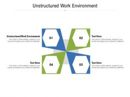 Unstructured Work Environment Ppt Powerpoint Presentationmodel Brochure Cpb