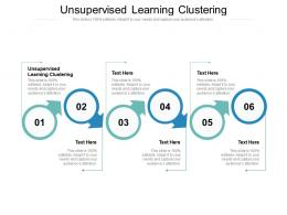 Unsupervised Learning Clustering Ppt Powerpoint Presentation Pictures Images Cpb