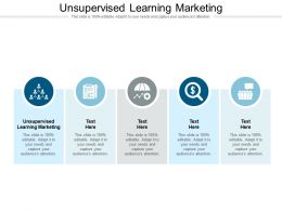 Unsupervised Learning Marketing Ppt Powerpoint Presentation Slides Objects Cpb