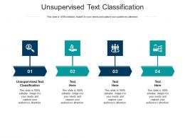 Unsupervised Text Classification Ppt Powerpoint Presentation Show Diagrams Cpb