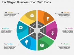 uo Six Staged Business Chart With Icons Flat Powerpoint Design