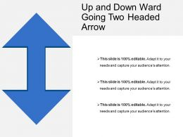 Up And Down Ward Going Two Headed Arrow