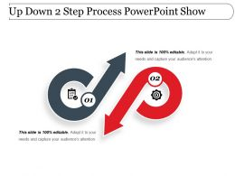 Up Down 2 Step Process Powerpoint Show