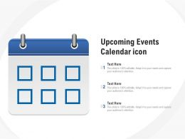 Upcoming Events Calendar Icon