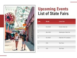 Upcoming Events List Of State Fairs