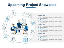 Upcoming Project Showcase Teamwork Ppt Powerpoint Presentation File Templates