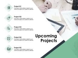 Upcoming Projects Agenda B157 Ppt Powerpoint Presentation File Topics