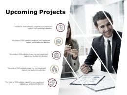 Upcoming Projects Checklist Gears Ppt Powerpoint Presentation Gallery Master Slide
