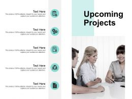 Upcoming Projects Gears Ppt Powerpoint Presentation File Display