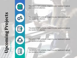 Upcoming Projects Ppt Layouts Infographic Template