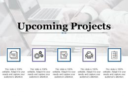 Upcoming Projects With Five Icons Profit Based Sales Targets