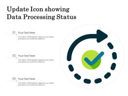 Update Icon Showing Data Processing Status