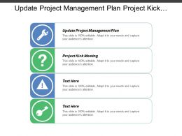 Update Project Management Plan Project Kick Meeting Risk Management