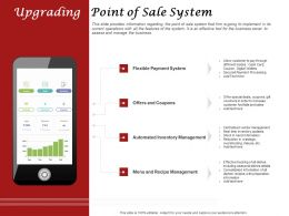 Upgrading Point Of Sale System Ppt Powerpoint Presentation Summary Graphics Template