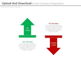 Upload And Download Arrow Compare Infographics Powerpoint Slides