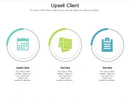 Upsell Client Ppt Powerpoint Presentation Outline Layout Cpb