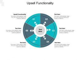 Upsell Functionality Ppt Powerpoint Presentation Outline Background Designs Cpb