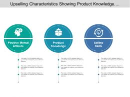 Upselling Characteristics Showing Product Knowledge And Selling Skills