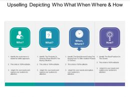 Upselling Depicting Who What When Where And How