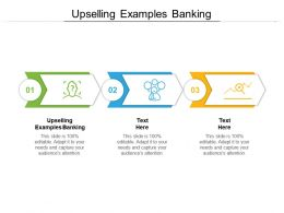 Upselling Examples Banking Ppt Powerpoint Presentation Model Display Cpb