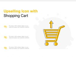 Upselling Icon With Shopping Cart