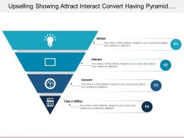 Upselling Showing Attract Interact Convert Having Pyramid Shaped