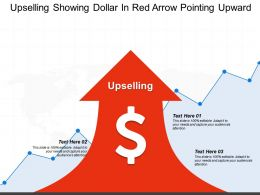 Upselling Showing Dollar In Red Arrow Pointing Upward
