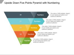 Upside Down Five Points Pyramid With Numbering