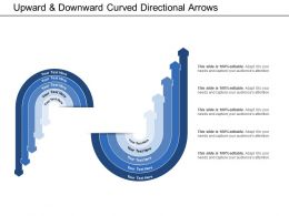 Upward And Downward Curved Directional Arrows