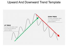 Upward And Downward Trend Template Good Ppt Example