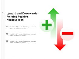 Upward And Downwards Pointing Positive Negative Icon