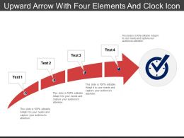 Upward Arrow With Four Elements And Clock Icon