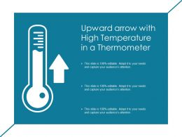 Upward Arrow With High Temperature In A Thermometer
