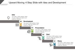Upward Moving 4 Step Slide With Idea And Development