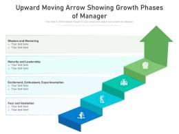 Upward Moving Arrow Showing Growth Phases Of Manager