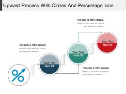 Upward Process With Circles And Percentage Icon