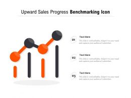 Upward Sales Progress Benchmarking Icon