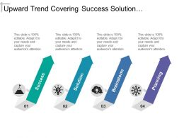 Upward Trend Covering Success Solution Brainstorm And Planning