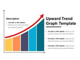 Upward Trend Graph Template Powerpoint Graphics