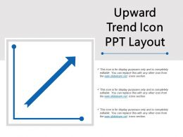 Upward Trend Icon Ppt Layout