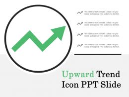 Upward Trend Icon Ppt Slide