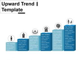 Upward Trend Template Powerpoint Shapes