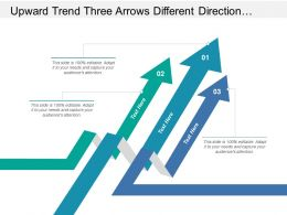 Upward Trend Three Arrows Different Direction With Text Holders